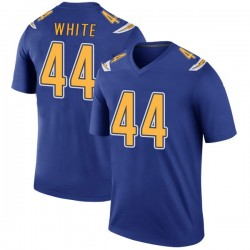 Legend Kyzir White Men's Los Angeles Chargers Royal Color Rush Jersey - Nike