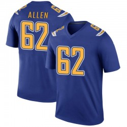Legend Larry Allen Youth Los Angeles Chargers Royal Color Rush Jersey - Nike