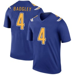 Legend Mike Badgley Men's Los Angeles Chargers Royal Color Rush Jersey - Nike
