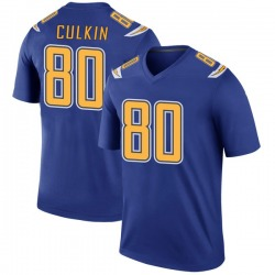 Legend Sean Culkin Men's Los Angeles Chargers Royal Color Rush Jersey - Nike