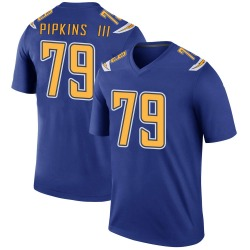 Legend Trey Pipkins Men's Los Angeles Chargers Royal Color Rush Jersey - Nike