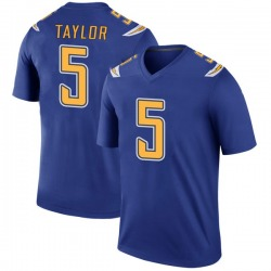 Legend Tyrod Taylor Men's Los Angeles Chargers Royal Color Rush Jersey - Nike