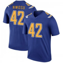 Legend Uchenna Nwosu Men's Los Angeles Chargers Royal Color Rush Jersey