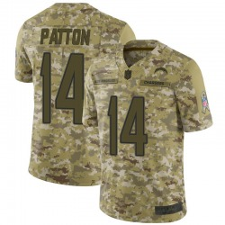 Limited Andre Patton Men's Los Angeles Chargers Camo 2018 Salute to Service Jersey - Nike