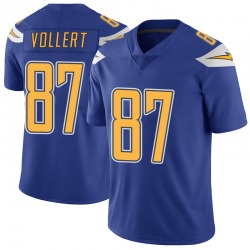 Limited Andrew Vollert Men's Los Angeles Chargers Royal Color Rush Vapor Untouchable Jersey - Nike