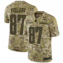 Limited Andrew Vollert Youth Los Angeles Chargers Camo 2018 Salute to Service Jersey - Nike