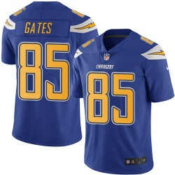 Limited Antonio Gates Men's Los Angeles Chargers Blue Electric Color Rush Jersey - Nike