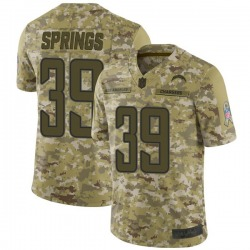 Limited Arrion Springs Men's Los Angeles Chargers Camo 2018 Salute to Service Jersey - Nike