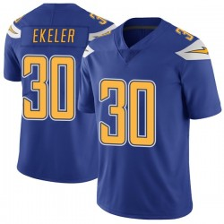 Limited Austin Ekeler Men's Los Angeles Chargers Royal Color Rush Vapor Untouchable Jersey - Nike