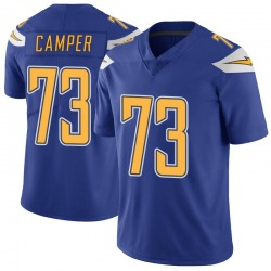 Limited Blake Camper Men's Los Angeles Chargers Royal Color Rush Vapor Untouchable Jersey - Nike