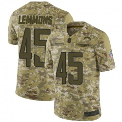Limited Bradford Lemmons Men's Los Angeles Chargers Camo 2018 Salute to Service Jersey - Nike