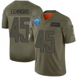 Limited Bradford Lemmons Men's Los Angeles Chargers Camo 2019 Salute to Service Jersey - Nike