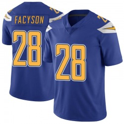 Limited Brandon Facyson Youth Los Angeles Chargers Royal Color Rush Vapor Untouchable Jersey - Nike