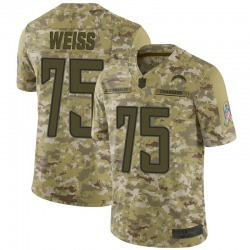 Limited Brant Weiss Men's Los Angeles Chargers Camo 2018 Salute to Service Jersey - Nike