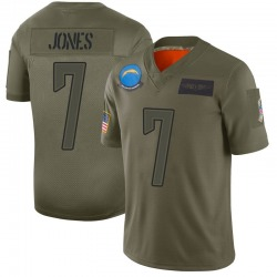 Limited Cardale Jones Men's Los Angeles Chargers Camo 2019 Salute to Service Jersey - Nike