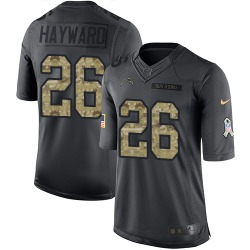 Limited Casey Hayward Men's Los Angeles Chargers Black 2016 Salute to Service Jersey - Nike