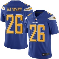 Limited Casey Hayward Men's Los Angeles Chargers Blue Electric Color Rush Jersey - Nike