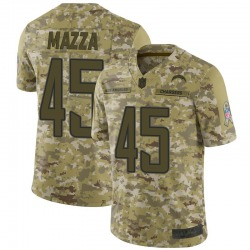 Limited Cole Mazza Men's Los Angeles Chargers Camo 2018 Salute to Service Jersey - Nike