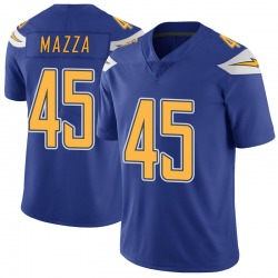 Limited Cole Mazza Men's Los Angeles Chargers Royal Color Rush Vapor Untouchable Jersey - Nike
