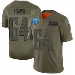 Limited Cole Toner Men's Los Angeles Chargers Camo 2019 Salute to Service Jersey - Nike