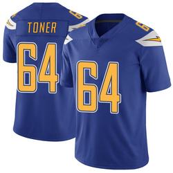 Limited Cole Toner Men's Los Angeles Chargers Royal Color Rush Vapor Untouchable Jersey - Nike