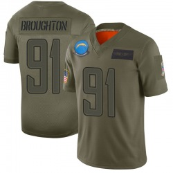 Limited Cortez Broughton Men's Los Angeles Chargers Camo 2019 Salute to Service Jersey - Nike