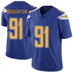 Limited Cortez Broughton Youth Los Angeles Chargers Royal Color Rush Vapor Untouchable Jersey - Nike