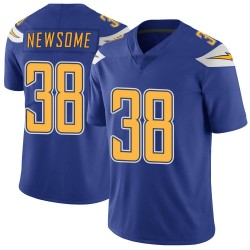 Limited Detrez Newsome Men's Los Angeles Chargers Royal Color Rush Vapor Untouchable Jersey - Nike