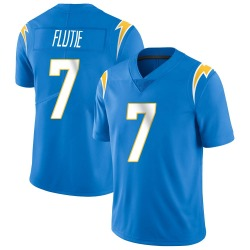 Limited Doug Flutie Men's Los Angeles Chargers Blue Powder Vapor Untouchable Alternate Jersey - Nike