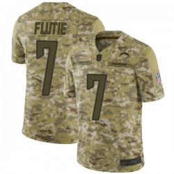 Limited Doug Flutie Men's Los Angeles Chargers Camo 2018 Salute to Service Jersey