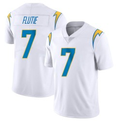 Limited Doug Flutie Men's Los Angeles Chargers White Vapor Untouchable Jersey - Nike