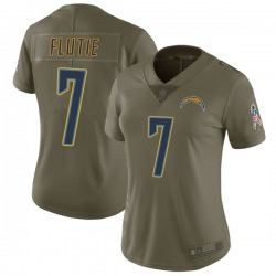 Limited Doug Flutie Women's Los Angeles Chargers Green 2017 Salute to Service Jersey - Nike