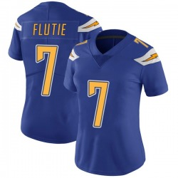 Limited Doug Flutie Women's Los Angeles Chargers Royal Color Rush Vapor Untouchable Jersey - Nike