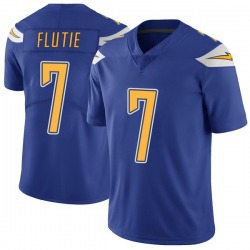 Limited Doug Flutie Youth Los Angeles Chargers Royal Color Rush Vapor Untouchable Jersey