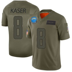Limited Drew Kaser Men's Los Angeles Chargers Camo 2019 Salute to Service Jersey - Nike