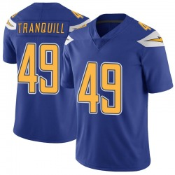 Limited Drue Tranquill Men's Los Angeles Chargers Royal Color Rush Vapor Untouchable Jersey - Nike