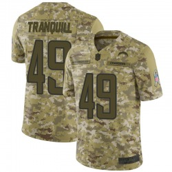 Limited Drue Tranquill Youth Los Angeles Chargers Camo 2018 Salute to Service Jersey - Nike