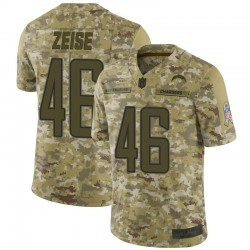 Limited Elijah Zeise Men's Los Angeles Chargers Camo 2018 Salute to Service Jersey - Nike