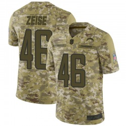 Limited Elijah Zeise Youth Los Angeles Chargers Camo 2018 Salute to Service Jersey - Nike
