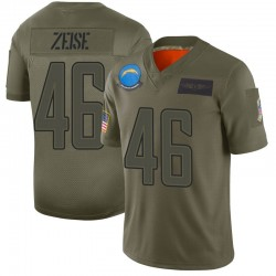 Limited Elijah Zeise Youth Los Angeles Chargers Camo 2019 Salute to Service Jersey - Nike