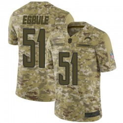 Limited Emeke Egbule Men's Los Angeles Chargers Camo 2018 Salute to Service Jersey - Nike
