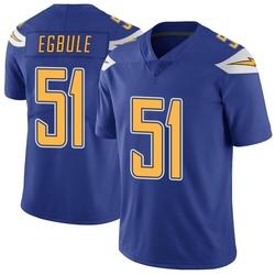 Limited Emeke Egbule Men's Los Angeles Chargers Royal Color Rush Vapor Untouchable Jersey - Nike