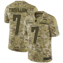 Limited Fred Trevillion Men's Los Angeles Chargers Camo 2018 Salute to Service Jersey - Nike
