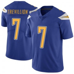 Limited Fred Trevillion Men's Los Angeles Chargers Royal Color Rush Vapor Untouchable Jersey - Nike