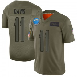 Limited Geremy Davis Men's Los Angeles Chargers Camo 2019 Salute to Service Jersey - Nike