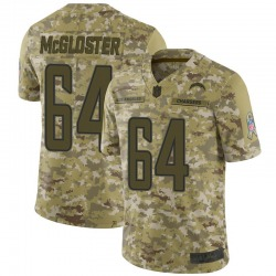 Limited Jamar McGloster Men's Los Angeles Chargers Camo 2018 Salute to Service Jersey - Nike