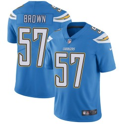 Limited Jatavis Brown Men's Los Angeles Chargers Blue Electric Alternate Jersey - Nike