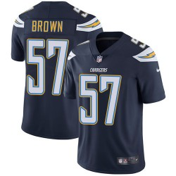 Limited Jatavis Brown Men's Los Angeles Chargers Navy Blue Team Color Jersey - Nike