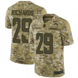 Limited Jeff Richards Men's Los Angeles Chargers Camo 2018 Salute to Service Jersey - Nike