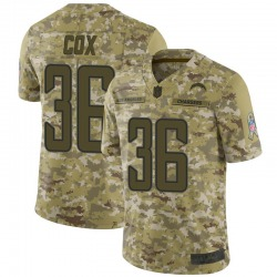 Limited Jeremy Cox Men's Los Angeles Chargers Camo 2018 Salute to Service Jersey - Nike